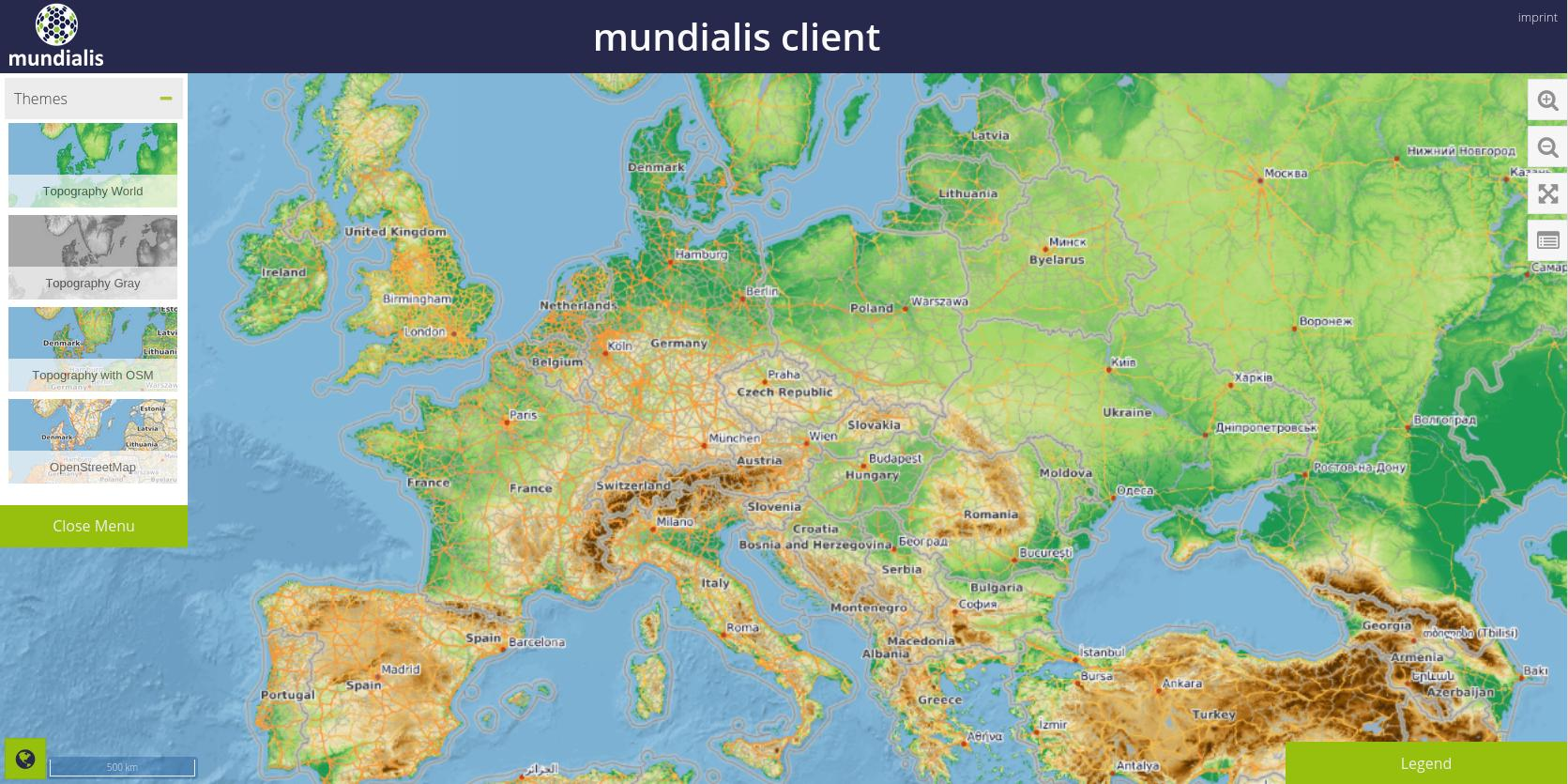 Making Of Topography Layer With OSM Overlay Mundialis Free - World topography