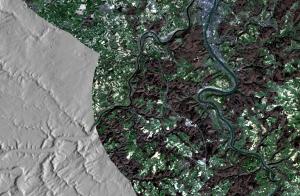 Landsat8 - River Rhine - EU-DEM 25m