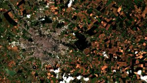 Bucharest seen by Sentinel-2 satellite
